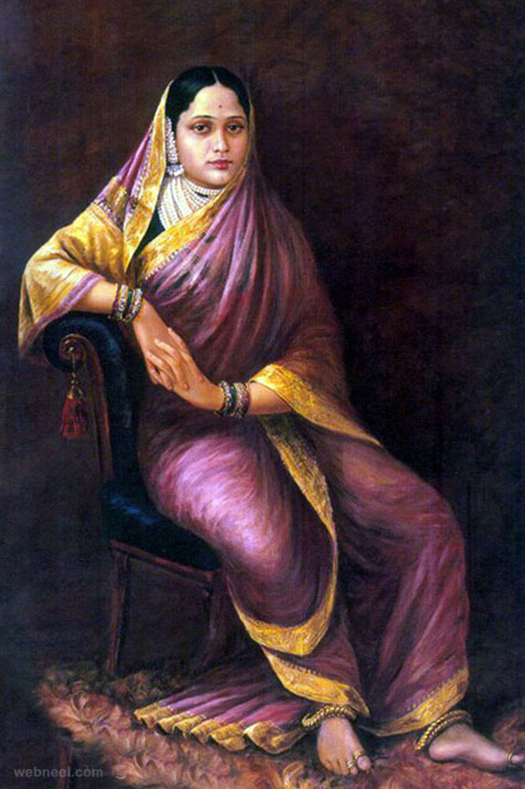 maharani chimanbai ravi varma paintings