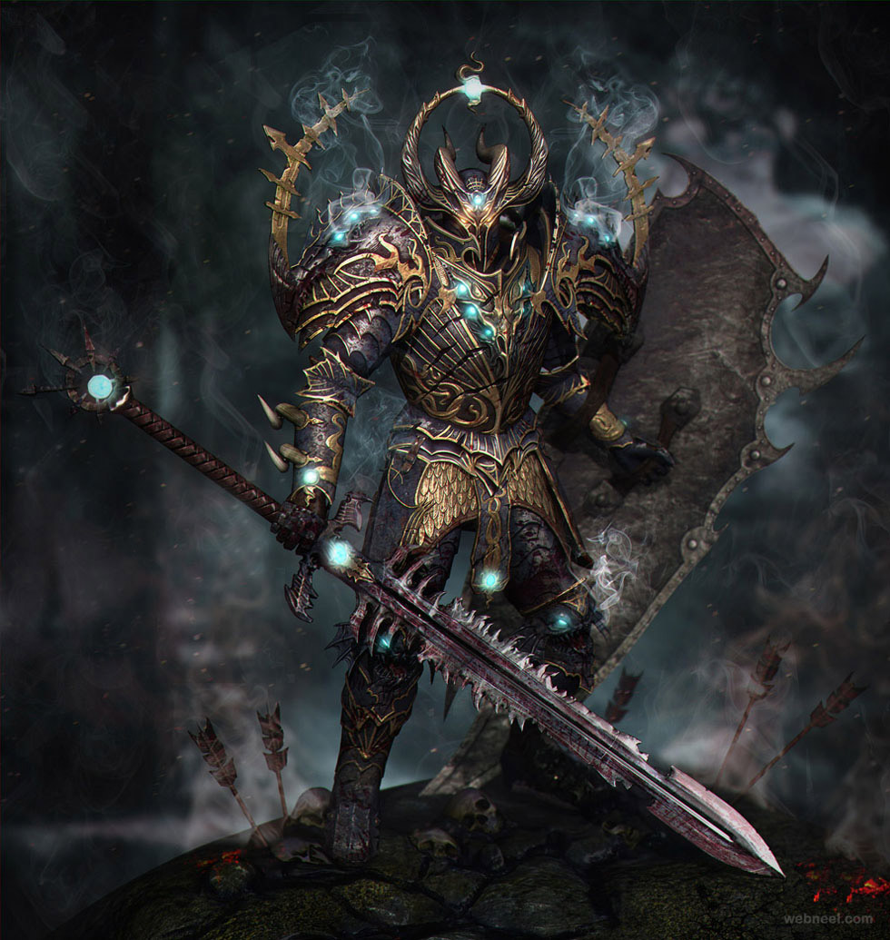 3d game chaos warrior by taras skorobruh