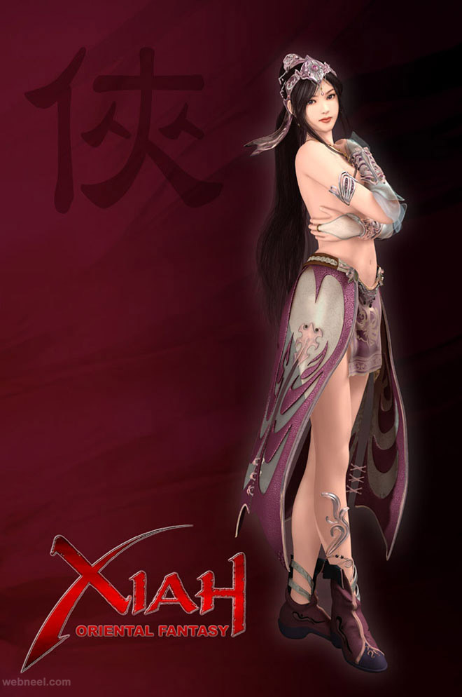 3d fantasy art character game best beautiful girl woman