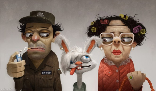 Cartoon Character Design Inspiration : Funny and beautiful d cartoon character designs for