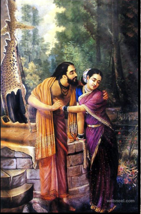 arjuna subhadra ravi varma reproductional paintings