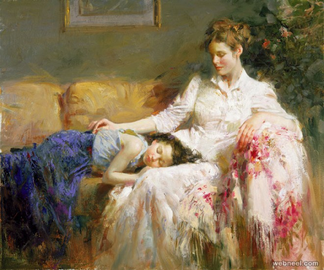 25 Mind-Blowing Oil Paintings by Pino Daeni - Feelings of Warmth ...