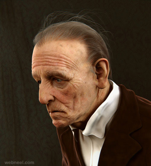 realistic 3d men portrait