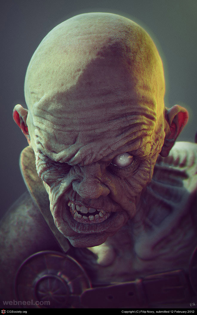 3d monster character by filip novy