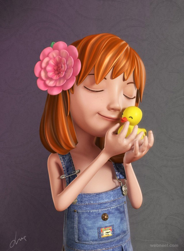50 funny and beautiful 3d cartoon character designs for - Female cartoon characters wallpapers ...