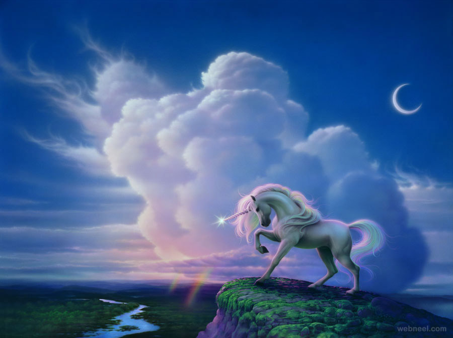 Rainbow Unicorn Fantasy Artwork 5