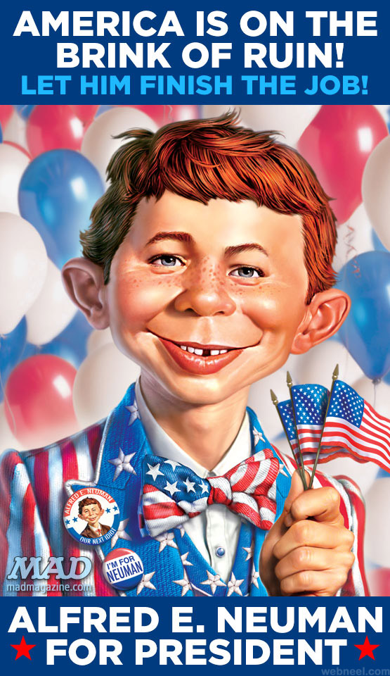 digital art painting caricature america usa