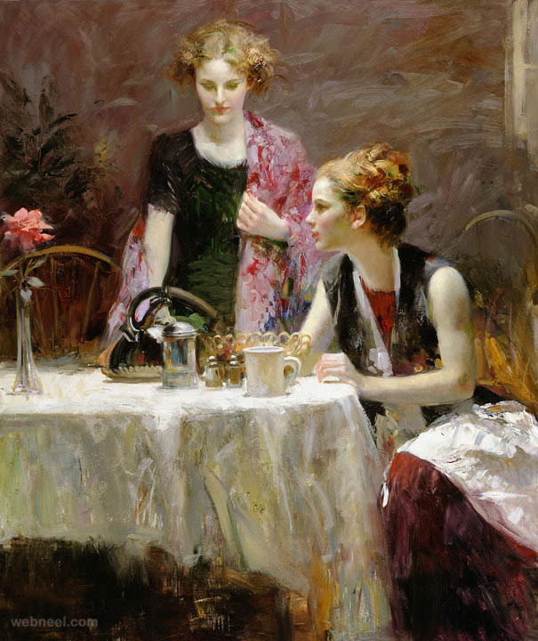 after dinner painting by pino daeni
