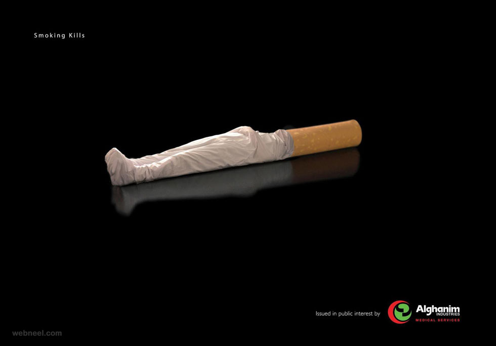 anti smoking awareness dead body