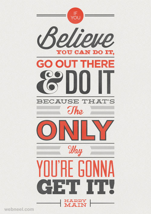 motivational typography