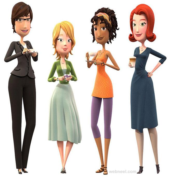 3d girls