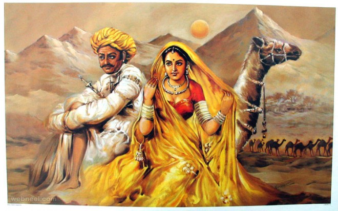 25 beautiful rajasthani paintings style of traditional for Buy art online india