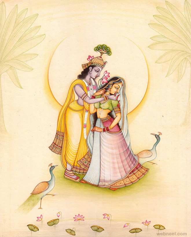Krishna Radha Paintings 3d Radha Krishna Paintings