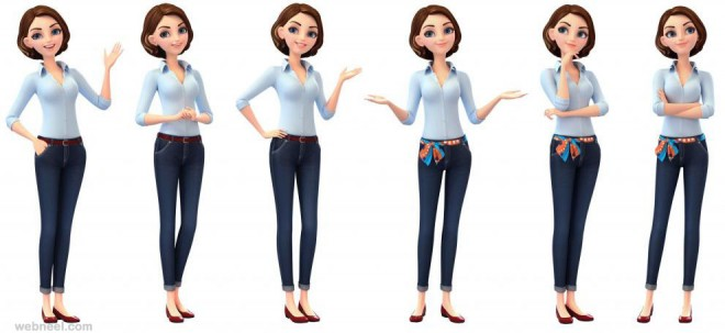 3d girl character