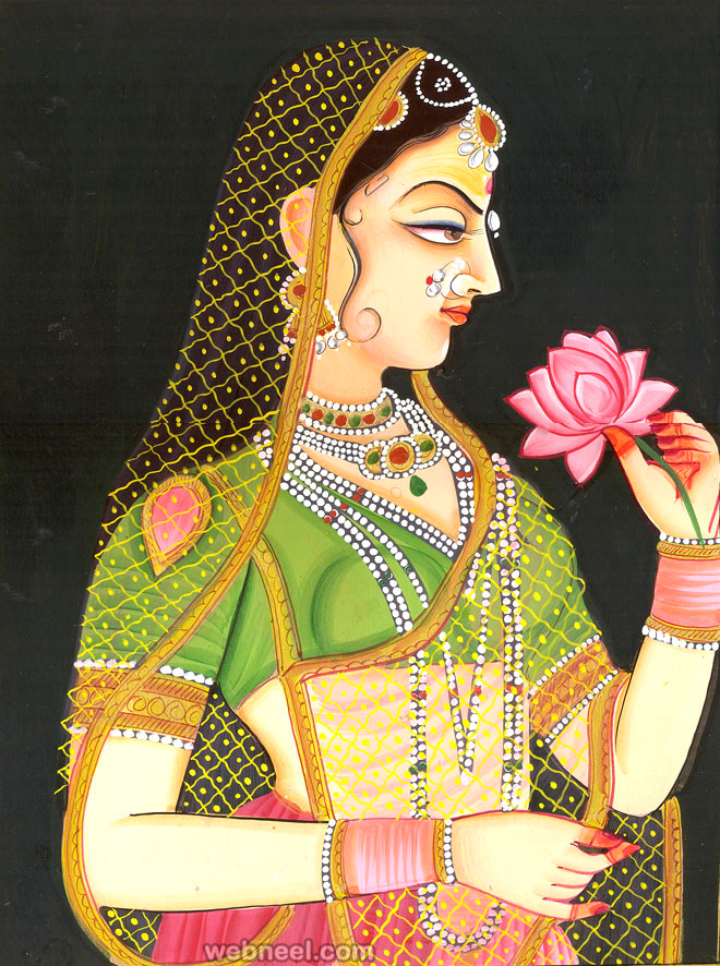 Miniature Painting Wallpaper Rajasthani Paintings Indian