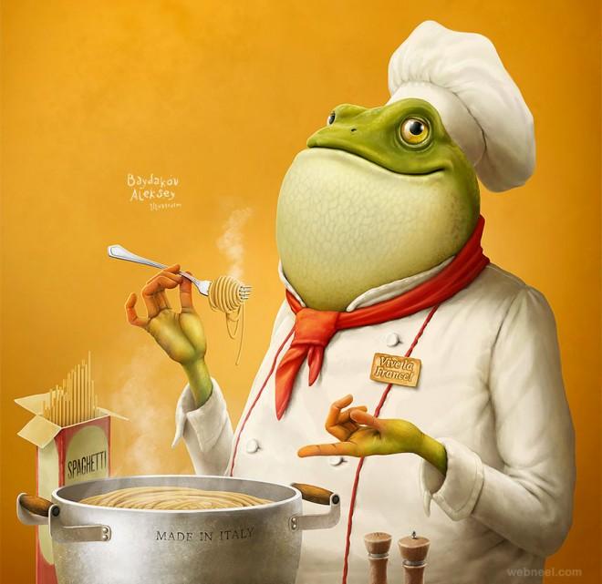 digital art frog