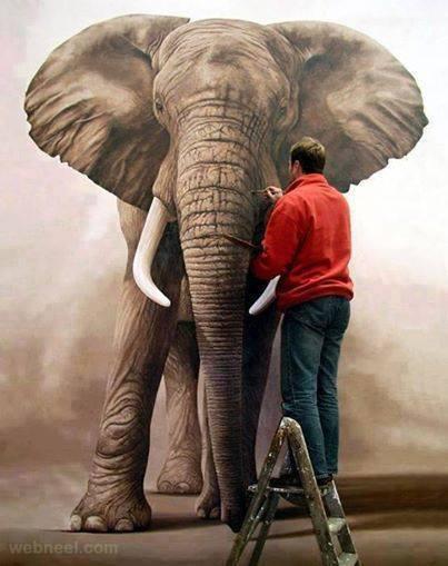 Daily Inspiration: elephant painting | webneel - photo#22