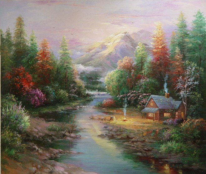 Beautiful paintings of sceneries the for Oil painting scenery