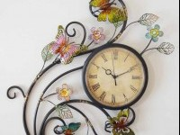 butterfly clock wall art