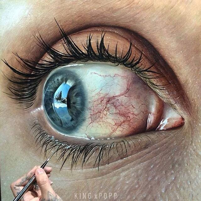 hyper realistic eye drawings