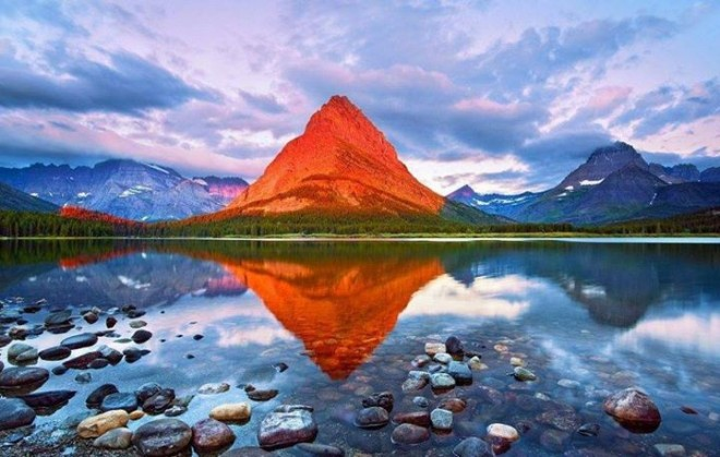 red mountain amazing nature reflections