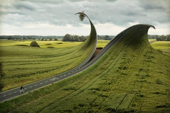 road photo manipulation by erik johansson