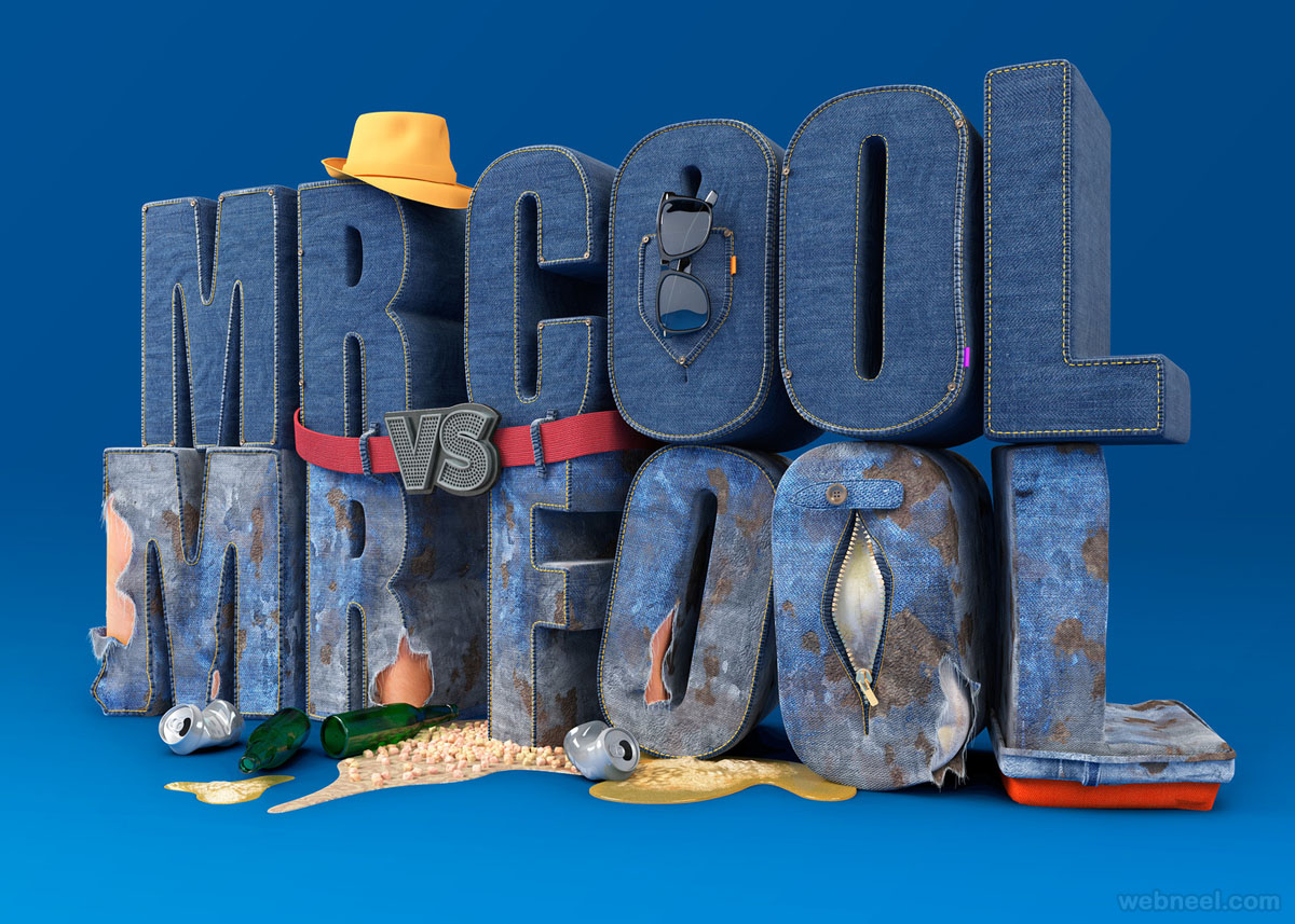 3d typography design chris labrooy