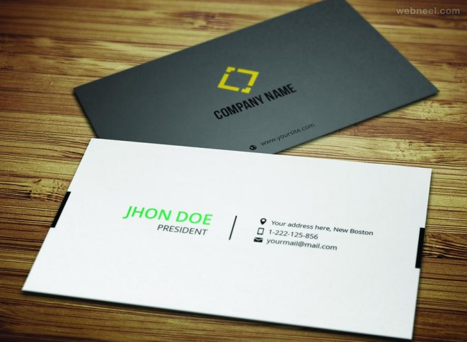 50 creative corporate business card design examples