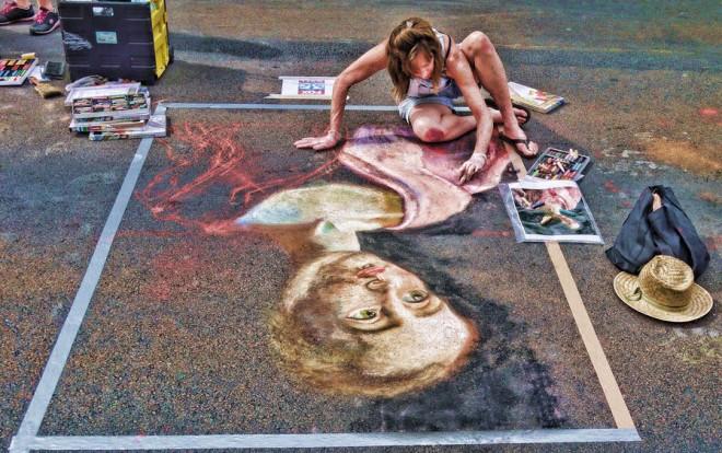 chalk art uptown festival