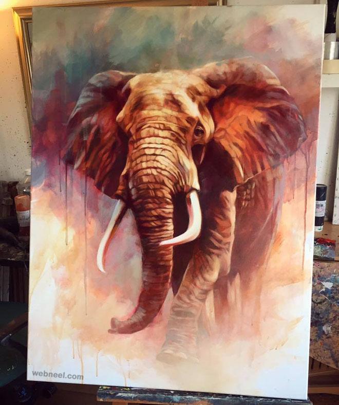 elephant animal painting