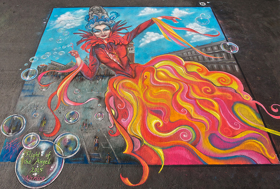 flight of angel street painting by peck holland