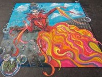 1-flight-of-angel-street-painting-by-peck-holland