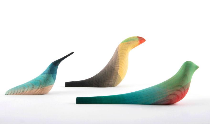 wood sculpture bird