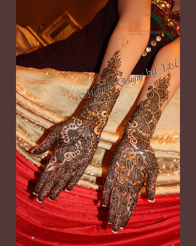 bridal leg mehndi design by iti kalsi