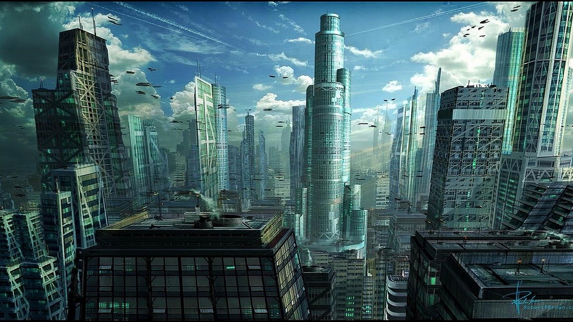 building futuristic city design ideas