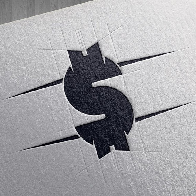profit mark head branding logo design