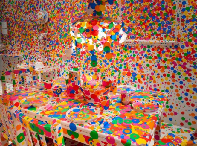 Creative Installation Art and Colorful illustrations by Yayoi Kusama