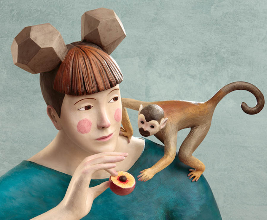 monkey realistic clay sculptures