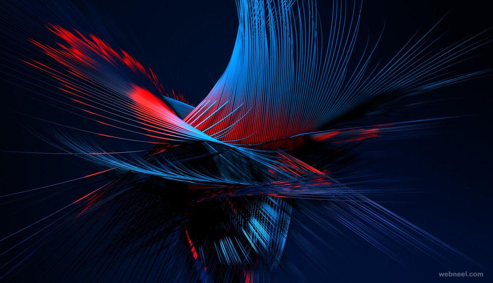 plume ad 3d motion graphics design