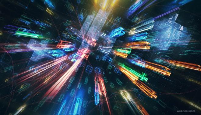 future cities ad 3d motion graphics design