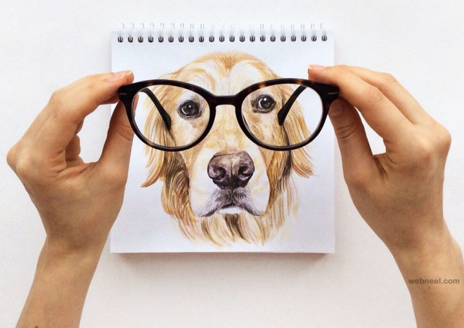 interactive illustration dog drawing idea