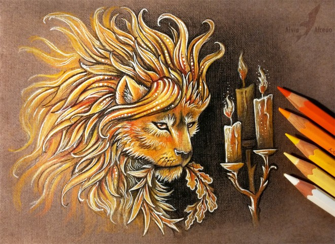 be strong color pencil drawing