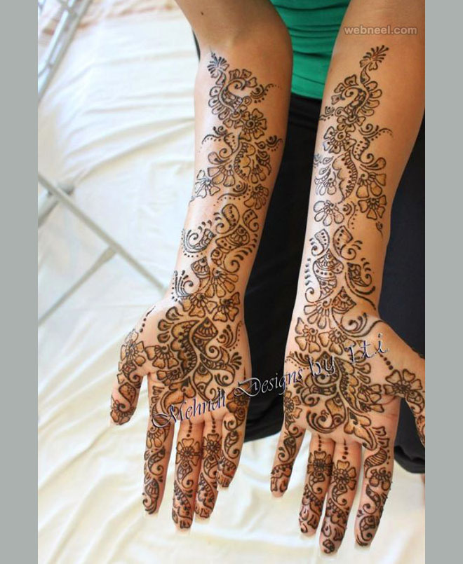 bridal mehndi design by iti kalsi
