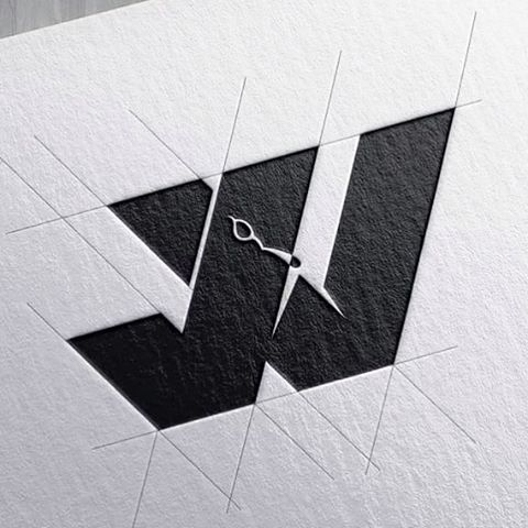 initials jw branding logo design