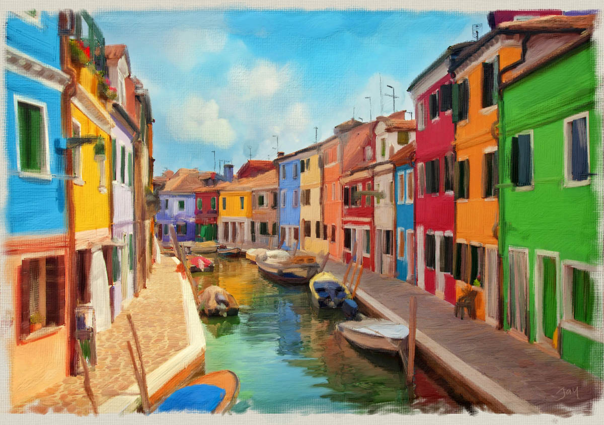 italy in acrylic flame painter tool