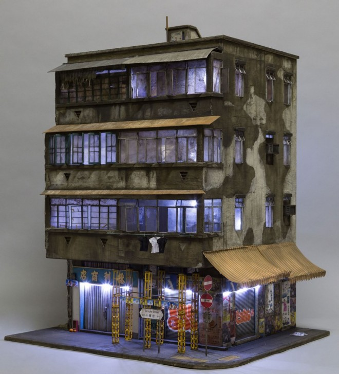 miniature architecture sculptures