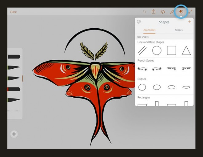 photoshop illustrator draw mobile app
