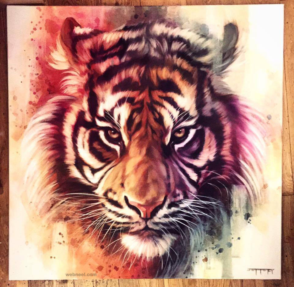 tiger animal painting