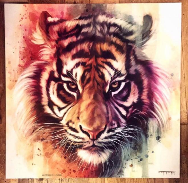 tiger animal painting