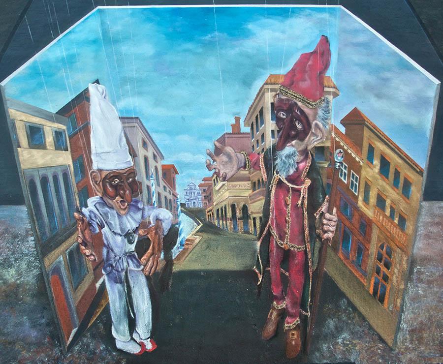 elves street painting marin